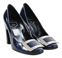 Roger Vivier Navy Patent Blue Pumps