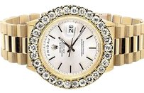 Rolex 18k Mens Yellow Gold Rolex Presidential Day-date 36mm Diamond Watch Ct