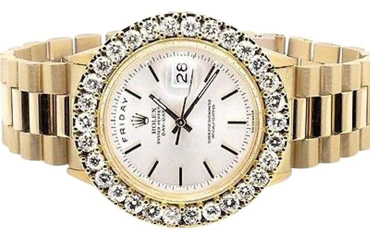 rolex 18k mens yellow gold presidential day date 36mm diamond watch ct rolex 18k mens yellow gold rolex presidential day date 36mm diamond watch ct