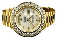 Rolex 18k Yellow Gold Mens Diamond Solid Rolex President Day-date Diamond Watch