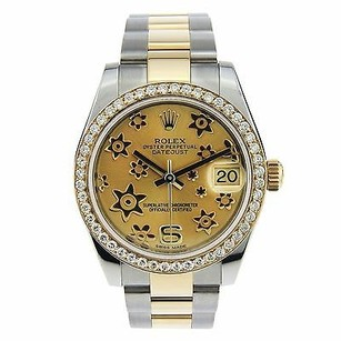 Rolex Bnib Rolex Datejust 178243 18k Yellow Goldss Champagne Flower 31mm Ladies Watch