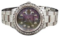 Rolex Custom Mens Rolex Mm Datejust Oyster Stainless Steel Diamond Watch Ct