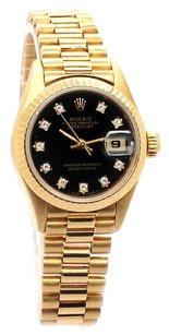 Rolex DateJust 18K Yellow Gold orginal Diamond Dial Ladies Presidential Watch