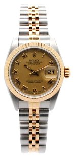 Rolex DateJust 18K/SS Champagne Roman dial Ladies Watch