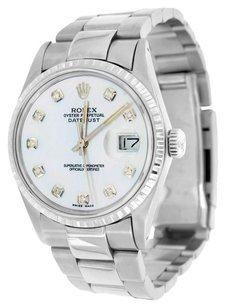 Rolex Datejust I Mens Watch 36mm Stainless Steel Diamond Dial Oyster Band