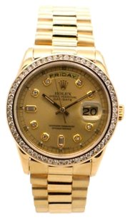 Rolex Rolex Day-date 18238 18K Gold Custom Diamond Men's Presidential Watch