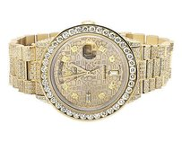 Rolex Excellent 18k Yellow Gold Rolex 18038 Day-date Presidential Diamond Watch 17 Ct
