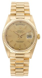 Rolex 18K Yellow Gold Day-Date 18238 Champagne Dial 36mm Men's Watch