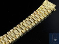 Rolex Ladies President Diamond Watch Band For Rolex Day-date In 18k Yellow Gold Ct