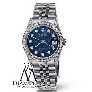 Rolex Ladies Rolex Datejust 26mm Blue Dial Jubilee Bracelet Diamond Bezel Lugs 79160