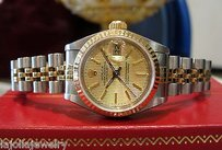 Rolex Ladies Rolex Oyster Perpetual Datejust 2-tone 18k Yellow Gold Stainless Steel