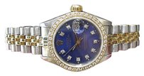 Rolex Ladies Rolex Oyster Perpetual Datejust Diamond Stainless Steel And Gold Watch