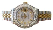 Rolex Ladies Rolex Oyster Perpetual Datejust Diamonds Mother Of Pearl Dial Watch