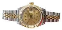 Rolex Ladies Rolex Oyster Perpetual Datejust Two-tone Yellow Gold And Stainless Steel