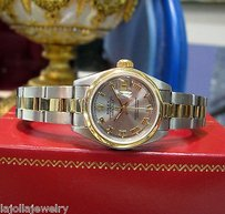 Rolex Ladies Rolex Oyster Perpetual Datejust Yellow Gold And Steel With Roman Numerals