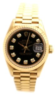 Rolex Rolex Datejust 18k Yellow Gold Custom Diamond Dial Ladies Presidential Watch