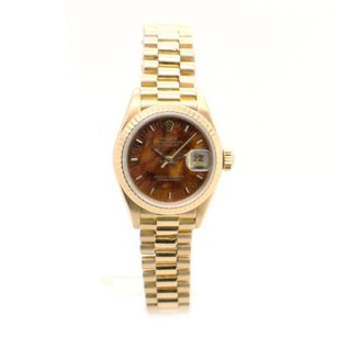 Rolex Ladies Rolex Presidential 69178 18k Gold Original Brown Wood dial Watch