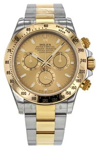 Rolex Men's Daytona Cosmograph 116523 Watch in 18k Yellow Gold and Stainless Steel with Champagne Dial RLX2TDY31
