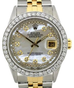Rolex MEN'S ROLEX DATEJUST DIAMOND WATCH WITH ROLEX BOX & APRRAISAL