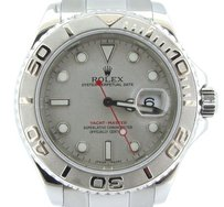 Rolex Mens 40mm Rolex Stainless Steelplatinum Yacht-master Watch 16622