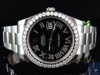 Rolex Mens Mm 116300 Rolex Date Just Ii With Roman Genuine Diamonds Ct