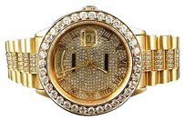 Rolex Mens Mm Rolex President 18038 18k Yellow Gold Day-date With Ct Diamond