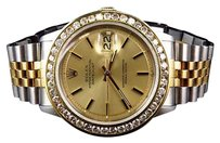 Rolex Mens Rolex Datejust Tone Oyster 18k Stainless Steel Diamond Watch With Ct