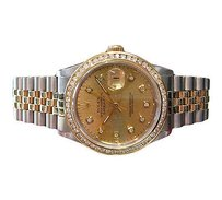 Rolex Mens Rolex Datejust Two-tone Yellow Gold Stainless Steel Diamond Dial And Bezel