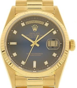 Rolex Mens Rolex Day Date 18k Yellow Gold 18038 Presidential