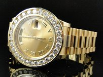 Rolex Mens Rolex Day-date Ii 18k 41mm Presidant Yellow Gold Diamond Watch