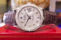Rolex Mens Rolex Oyster Perpetual Datejust Diamonds Mother-of-pearl Watch