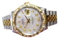 Rolex Mens Rolex Oyster Perpetual Datejust Diamonds Yellow Gold Stainless Steel Watch