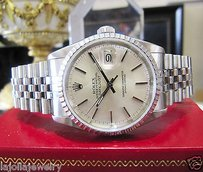 Rolex Mens Rolex Oyster Perpetual Datejust Stainless Steel Watch Ref 16220 C 1988