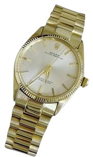 Rolex Mens Rolex Solid 14k Yellow Gold Oyster Perpetual Wpresidential Style Band 1005