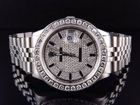 Rolex Mens Stainless Steel Rolex Datejust Jubilee Mm With Diamond Dial Watch Ct