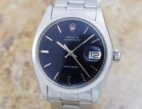 Rolex Mens Vintage Swiss Made Rolex Oyster Date 6694 Original Black Dial M3