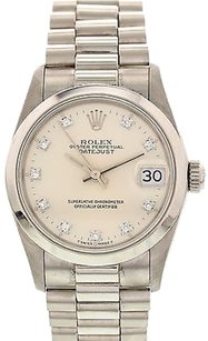 Rolex Midsize Rolex Datejust Platinum Diamond Dial 68246