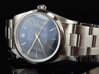 Rolex Pre-owned Mens Rolex Mm Air King Oyster Stainless Steel Blue Dial Watch 14000