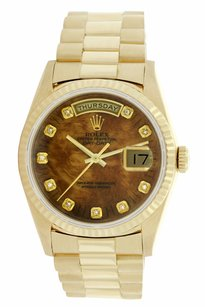 Rolex Preowned Rolex 18038 18K Yellow Gold w/ Tiger Eye Dial Watch 36mm