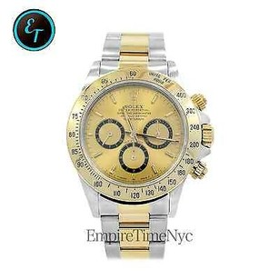 Rolex Rolex 16523 Daytona 18k Gold Stainless Steel Yellow Dial Zenith Movement Mens