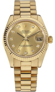 Rolex Rolex Datejust 18K Yellow Gold Custom Diamond Dial Unisex Watch