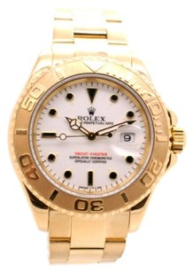 Rolex Rolex Yachtmaster 18K Yellow Gold White Dial Men's Watch