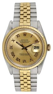 Rolex Rolex 18K/SS Two Tone 36mm Datejust Men's Watch