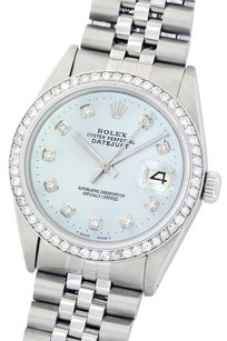 Rolex ROLEX 36MM DATEJUST ICE BLUE DIAMOND STAINLESS STEEL WATCH