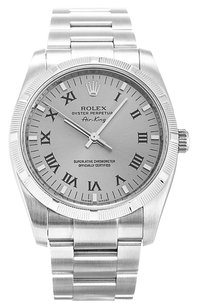 Rolex ROLEX AIR-KING 114210 STAINLESS STEEL SILVER DIAL MEN'S WATCH