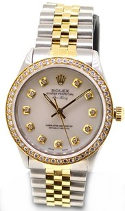 Rolex Rolex Air king 5501 MOP diamond dial 1ct diamond bezel unisex Watch