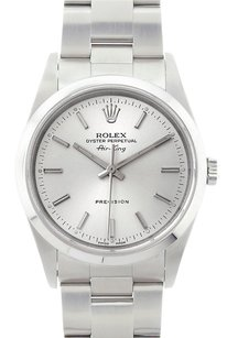 Rolex Rolex Air-King Stainless Steel Silver Dial Watch 1400