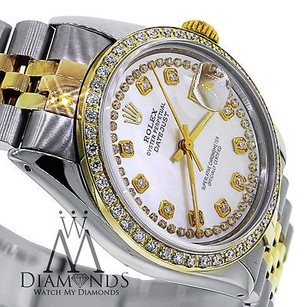 Rolex Rolex Datejust 116233 36mm Mother Of Pearl Double Row Diamond 18kss