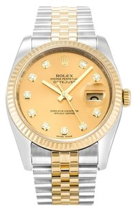 Rolex ROLEX DATEJUST 116233 CUSTOM DIAMOND DIAL MEN'S WATCH
