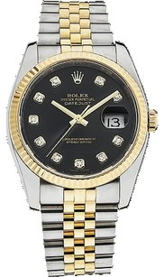 Rolex Rolex DateJust 116233 18K Yellow Gold and Steel Custom Diamond Men's Watch
